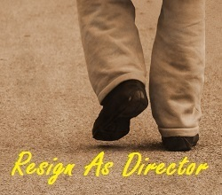 Resignation as a director